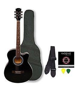 Kadence Frontier Series, Black Acoustic Guitar